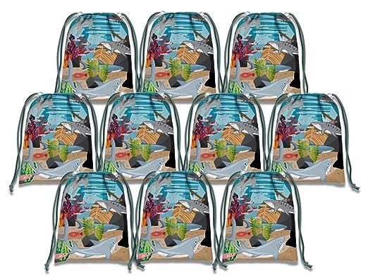 Amazon.com: SHARK bolsas de cordón niños suministros para ...
