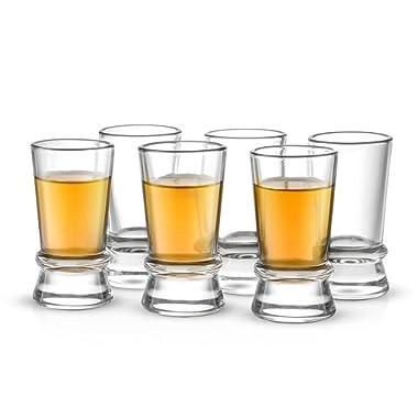 JoyJolt Afina Collection 6-Pack Heavy Base Shot Glass Set, 1.5-Ounce Shot Glasses