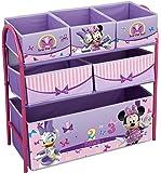 Disney - Scaffale Portagiochi multi-scompartimento Minnie Mouse