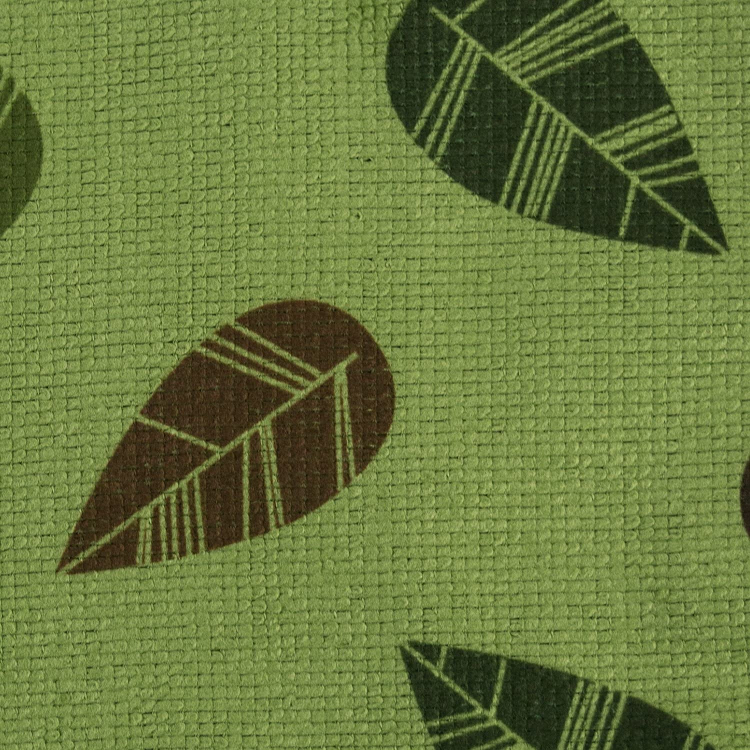 Car Dishes 12 x 12 Set of 4 Green Leaves Drying Rags Dusting DII Microfiber Cleaning Towels Perfect for Kitchens