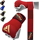 RDX Boxing Hand Wraps Inner Gloves for Punching - Elasticated Padded Bandages Under Mitts - Quick Long Wrist Support…