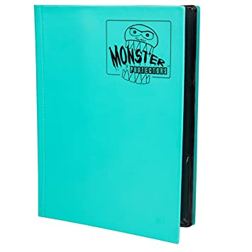 Monster Binder - 9 Pocket Matte Teal Album - Holds 360 ...