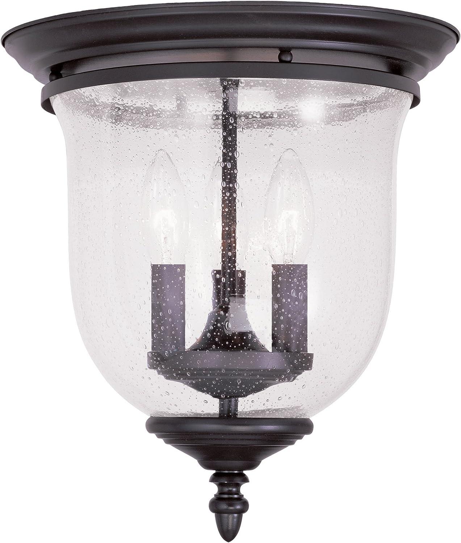Livex Lighting 5024-07 Legacy 3-Light Ceiling Mount, Bronze
