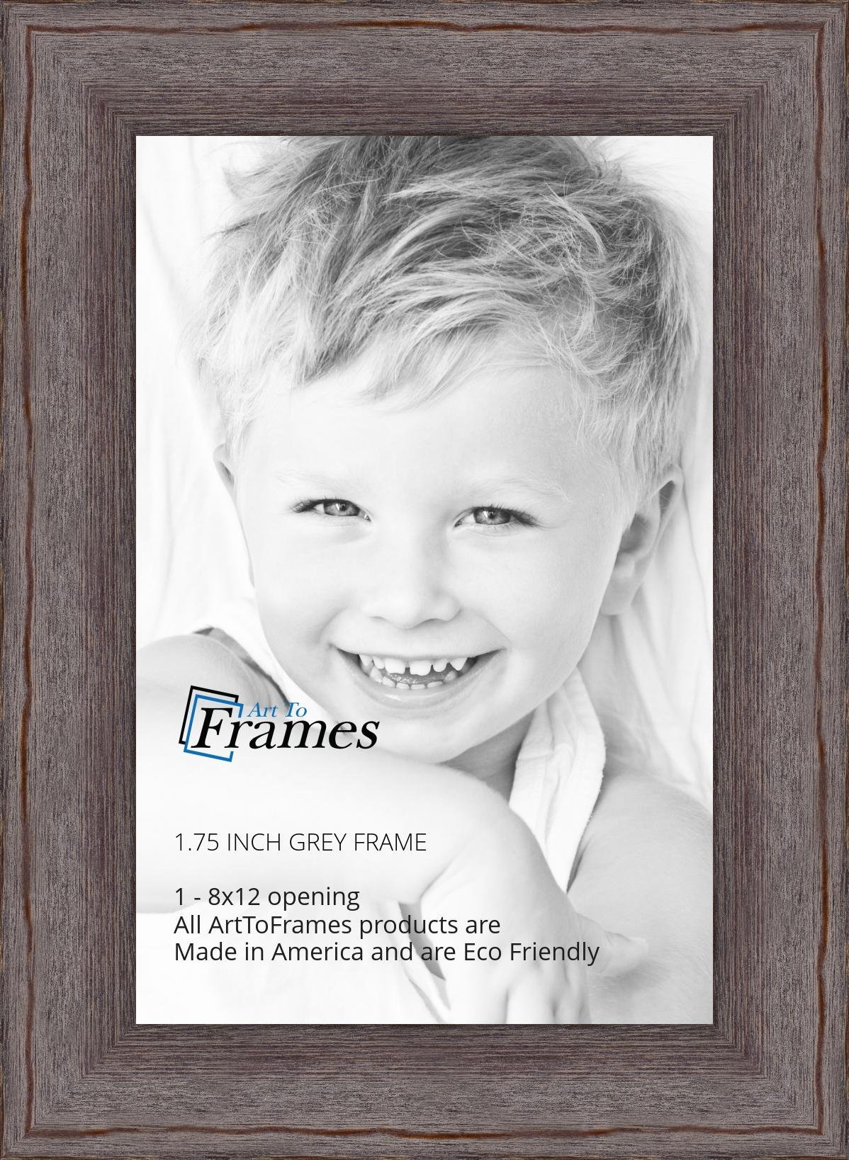 ArtToFrames 8x12 inch Grey - Distressed Wood Wood Picture Frame, WOM82223-101-8x12 by ArtToFrames (Image #2)