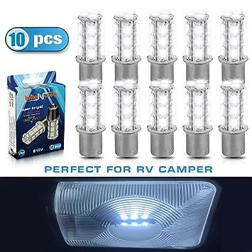 1156 7506 1003 1141 BA15S 18 Smd 5050 LED Car Lights Bulbs   10 Pack Cool