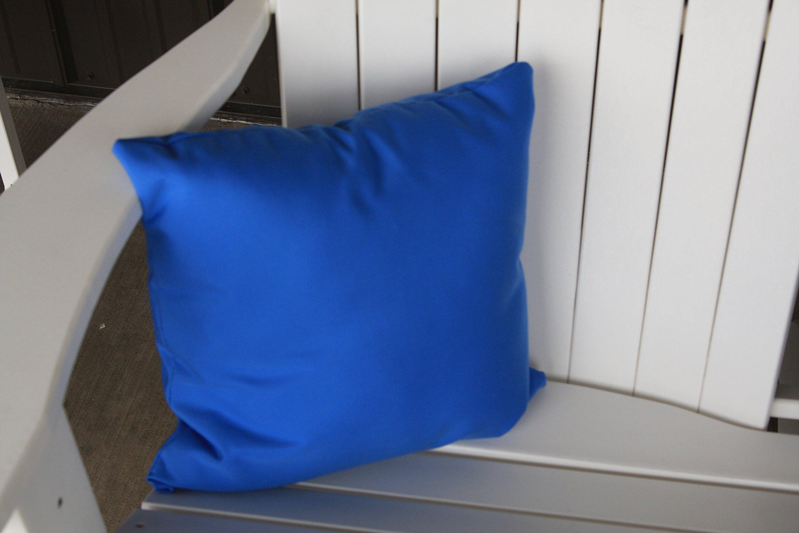 A & L Furniture Sundown Agora 20'' Pillow, 20''L 20''W 4''T, Light Blue