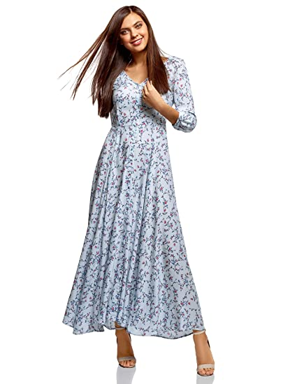 afe8737549f6 oodji Ultra Femme Robe Longue Boutonnée  Amazon.fr  Vêtements et ...