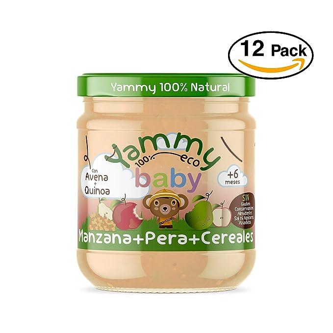 Yammy, Potito ecológico de Manzana, Pera y Cereales(Quinoa Avena) a partir