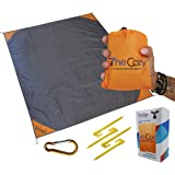 Sand Free Compact Beach Blanket - Pocket Picnic Sheet For Outdoor Multiple Use   Best Mat For Travel & Festivals, Soft…