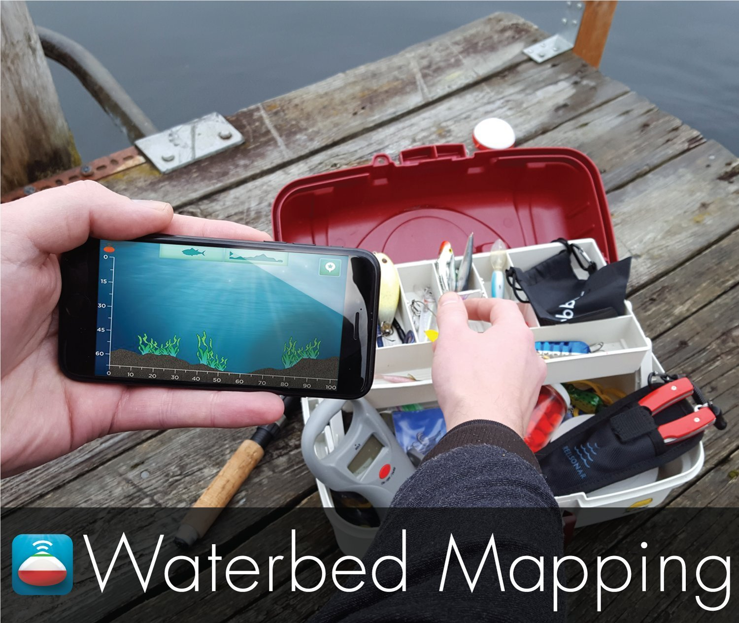 Second Best Portable Fishfinder iBobber Wireless Bluetooth Smart Fish Finder for iOS and Android devices