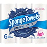 SpongeTowels Ultra Strong Paper Towels, Choose-a-Size Regular Roll, 2-ply, 72 Sheets per Roll - 6 Rolls