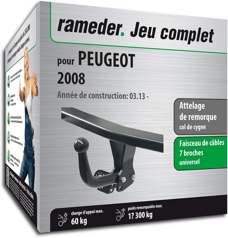 Faisceau 7 Broches 143819-11219-1-FR Rameder Attelage d/émontable avec Outil pour Peugeot 2008