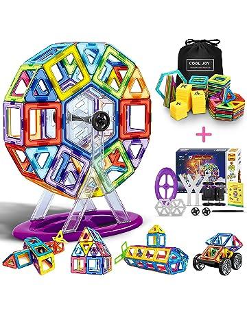 COOLJOY Bloques de Construcción Magnéticos 3D con Letra y Número en Plástico, Juguete Educativo y