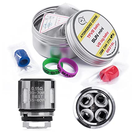TFV8 bebé Coil Head V8baby-T8 Compatible smok TFV8 baby Beast tank (PACK 5