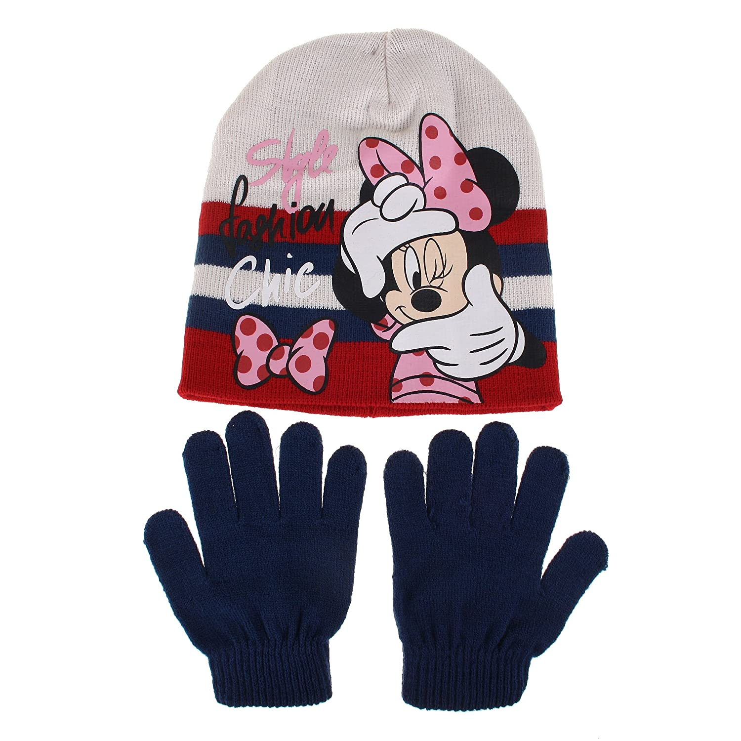 Disney Girl's Style Fashion Chic Scarf, Hat and Glove Set RFKSE901