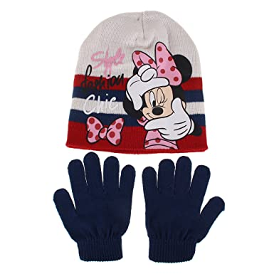 50a3d8b67e18 Disney Girl s Style Fashion Chic Scarf, Hat   Glove Set, Blue Navy, Small