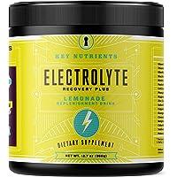 Electrolyte en polvo, suplemento de hidratación de limonada: 90 porciones, carbohidratos, calorías y sin azúcar, deliciosa mezcla de bebida de reposición Keto. Electrolitos de 6 teclas, magnesio, potasio, calcio y más.