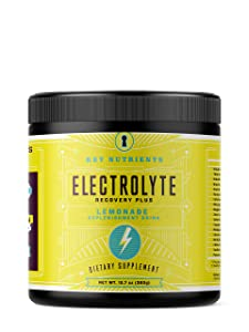 Electrolyte Powder, Lemonade Hydration Supplement: 90 Servings, Carb, Calorie & Sugar Free, Delicious Keto Replenishment Drink Mix. 6 Key Electrolytes - Magnesium, Potassium, Calcium & More.
