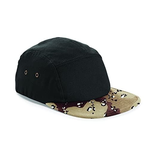 07242665c45 Beechfield Camouflage 5 Panel Baseball Cap (One Size) (Black  Desert Camo)