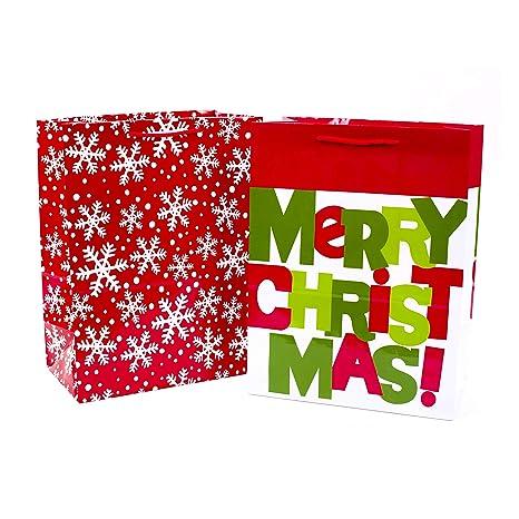 Amazon.com: Hallmark - Bolsas de regalo grandes para Navidad ...
