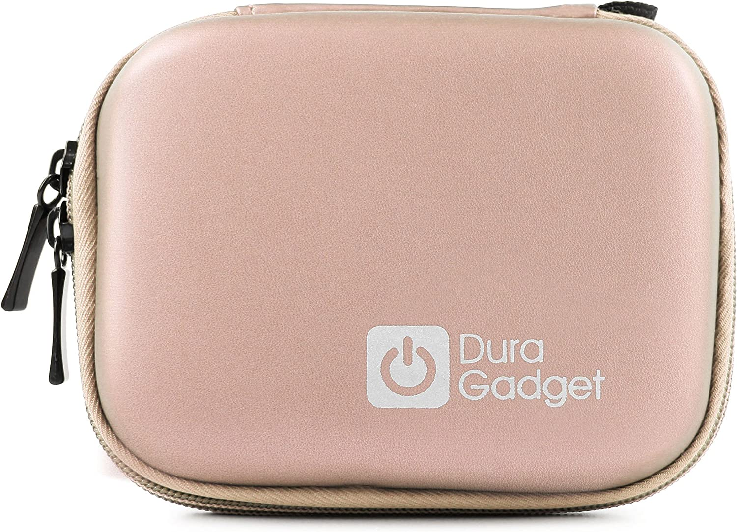 DURAGADGET Sturdy Rose Gold Camera Case with Soft Fleece Lining Compatible with AIPTEX SportyCam Z3 /& Car Camcorder X5