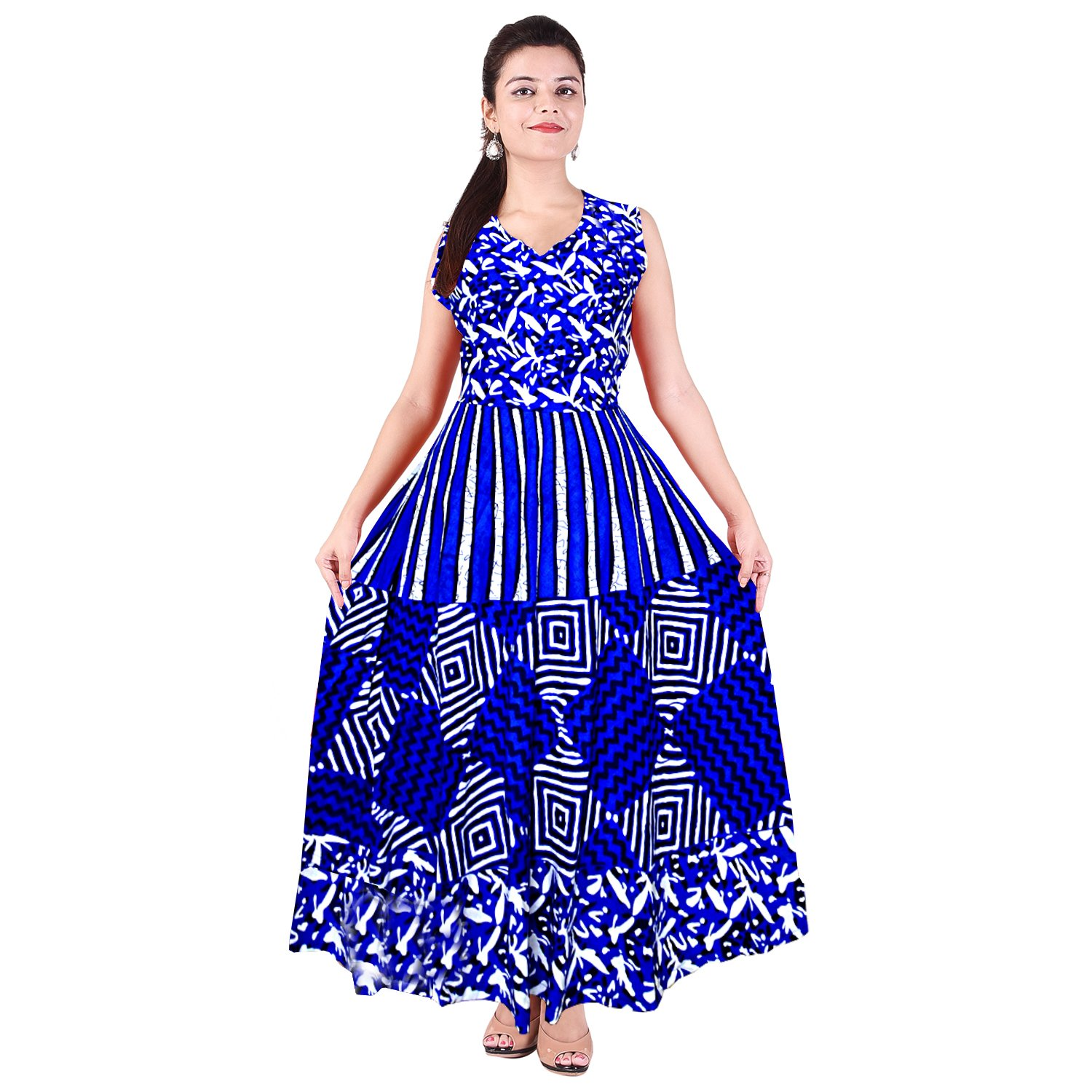 8a5a95c3ff Silver Organisation Women's Cotton Night Gown (SON540, Multicolour, Free  Size): Amazon.in: Clothing & Accessories