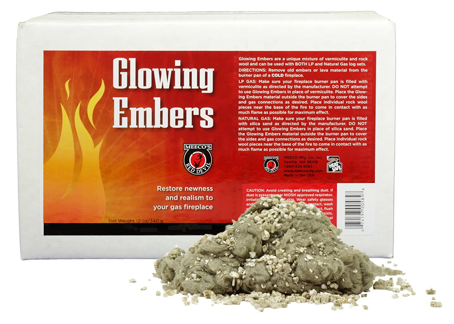 amazon com meeco s red devil 585 glowing embers 12 oz home rh amazon com What Are Fireplace Embers glowing embers for vented gas fireplace