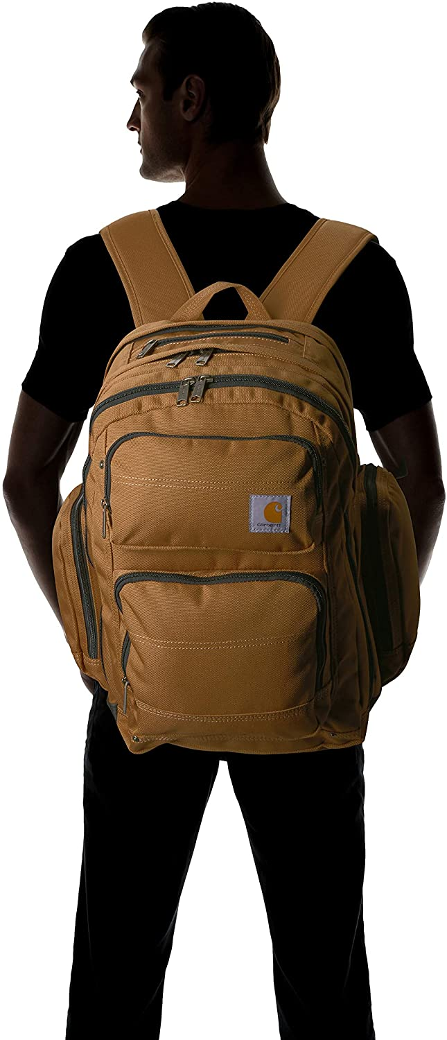 Carhartt Legacy Deluxe Work Backpack with 17-Inch Laptop Compartment, Carhartt Brown: Clothing