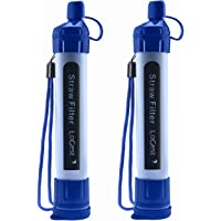 2 Pack Water Filter Straw - Water Purifying Device - Portable Personal Water Filtration Survival - for Emergency Kits…