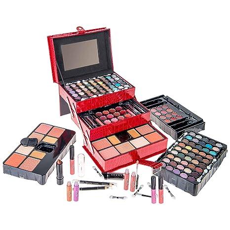 3d92487e8 SHANY Estuche de maquillaje todo en uno (paleta de sombras, rubores, polvos  y más) exclusivo de las fiestas: Amazon.com.mx: Salud, Belleza y Cuidado ...