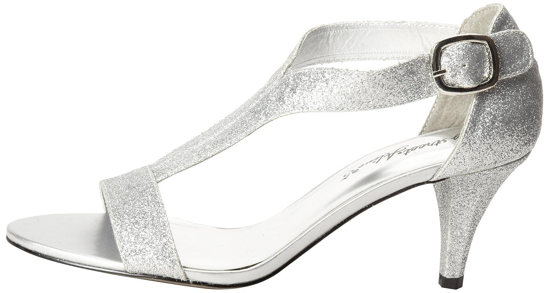 Easy Street Women's Glitz Sandal B00CD9GPK0 9 W US|Silver Glitter