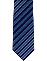 KissTies Striped Extra Long Tie Necktie in Foldable Magnetic Gift Box (63'' XL)