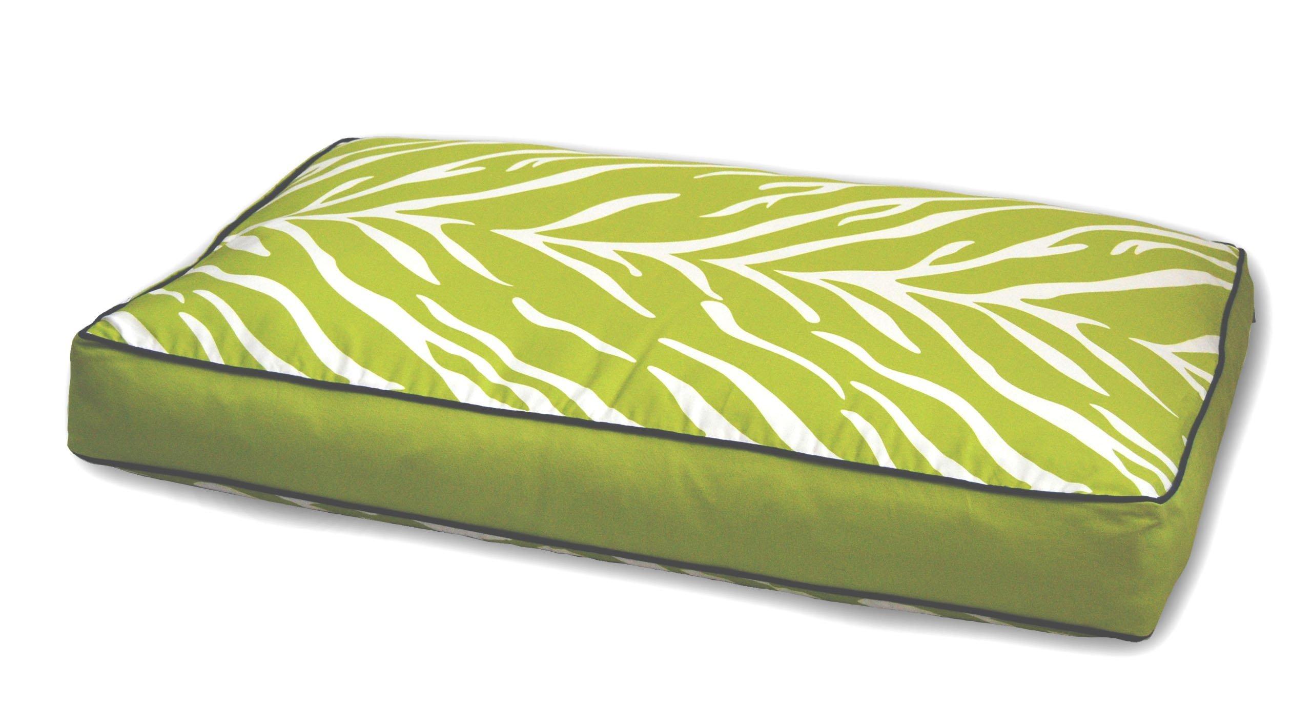 EZ Living Home Zebra Memory Foam Topper Pillow Pet Bed Size: Medium (36'' H x 27'' W), Color: Lime