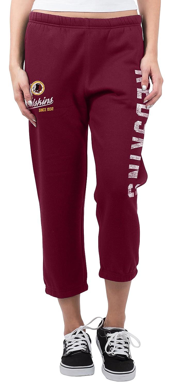 , Team Color NFL  Ultra Game Womens Jogger Pants Capri Cropped Fleece Sweatpants