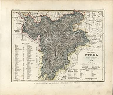 Amazon.com: Grafschaft Tyrol Europe Radefeld c.1850 Meyer ...