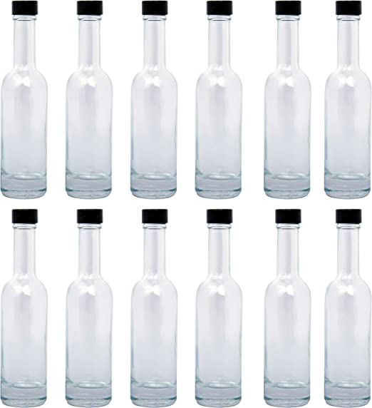 BELLE VOUS Botellas Vidrio (Pack de 12) - 150ml Mini Botellas de ...