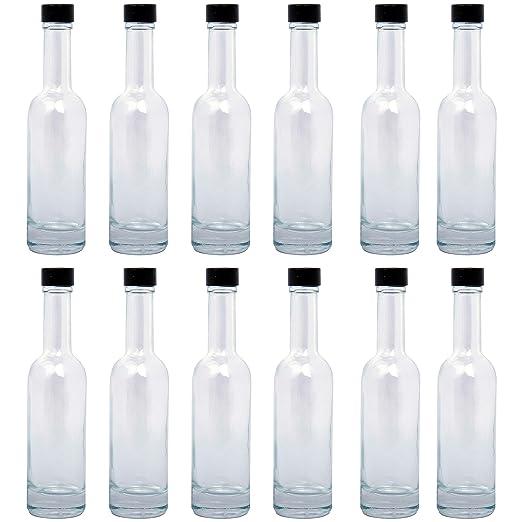BELLE VOUS Botellas Vidrio (Pack de 12) - 150ml Mini Botellas de ...