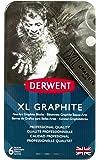 Derwent XL Graphite Blocks, Metal Tin, 6 Count (2302010)