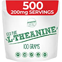 Purisure L-Theanine Powder 100g (1000 Servings), Nootropic, Cognitive Enhancer, Reduce Stress, Mood Support, Relaxation…