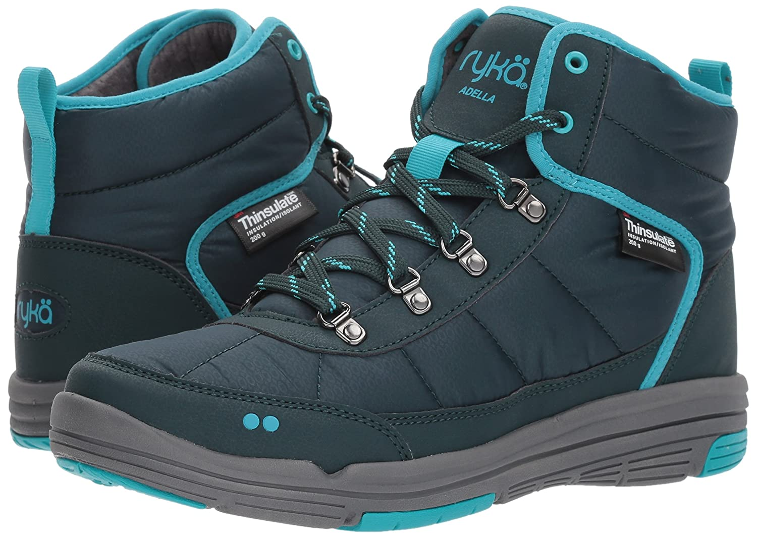 Ryka Women's Adella Fashion Boot B01N6Z9GH4 9.5 W US|Rich Teal/Bluebird/Slate Grey