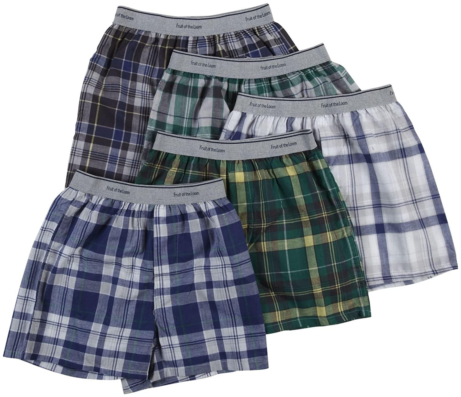 Fruit of the Loom Baby Boys' Woven Boxers - Fashion Waistband, 5 pk