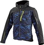 コミネ(KOMINE) JK-590 プロテクトソフトシェルウインターパーカ ジャケット Blue Camo-Black/L Protect Softshell Winter Parka 07-590