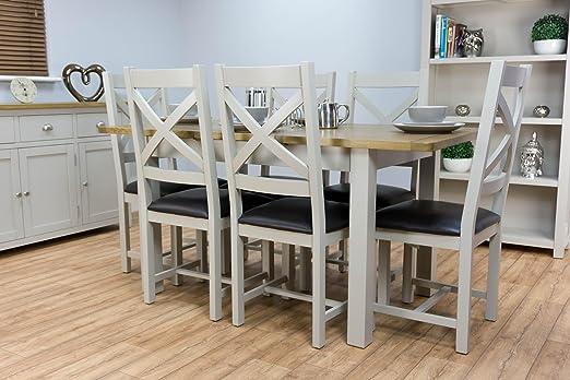 Wellington - Juego de mesa de comedor extensible y 4 sillas, color ...