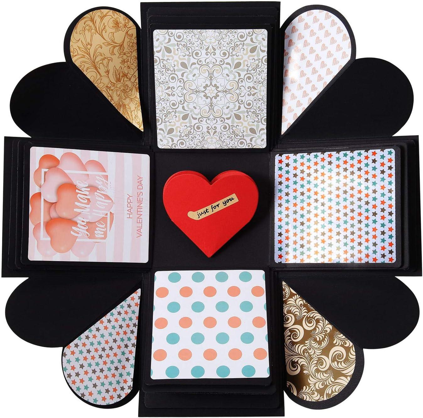 DIY Gift Box   Memory DIY Photo Album   Surprise Box   Creative Scrapbook Album for Engagement Wedding Birthday Valentine's Day Anniversary Gifts