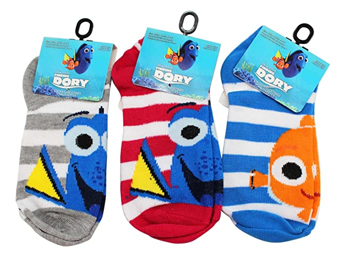 Disney Pixars Finding Dory Kids Sock Collection (Sock Size 6-8.5, ...