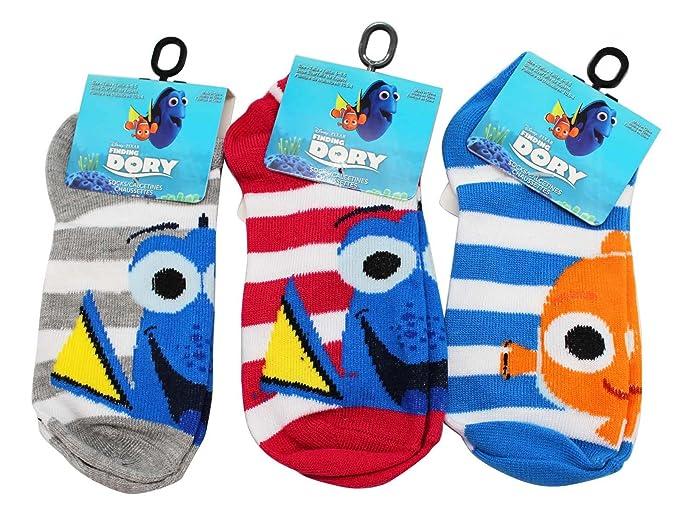 Disney Pixars Finding Dory Mixed Little Kids Sock Set (Sock Size 4-6,