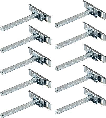 10x Regalbodenträger verdeckt Tablarträger Bodenträger SMART Regalträger Stahl