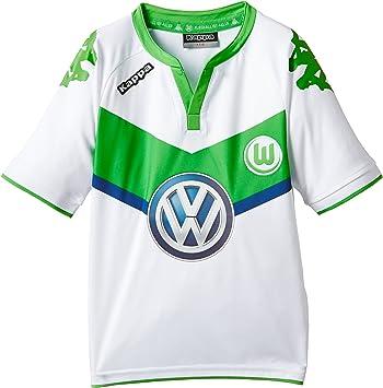 Kappa VFL – Camiseta de fútbol Home, infantil, Trikot VFL Home, Blanco (