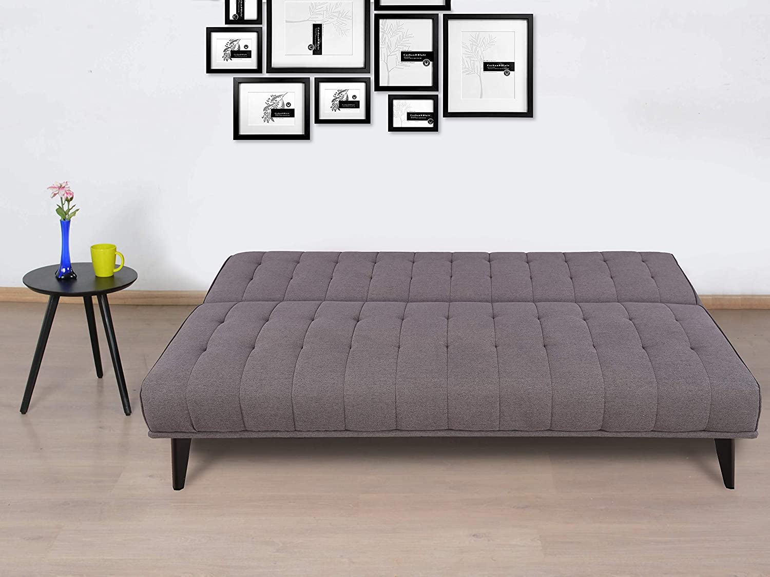 HomeTown Willis Fabric Sofa Cum Bed (Grey)