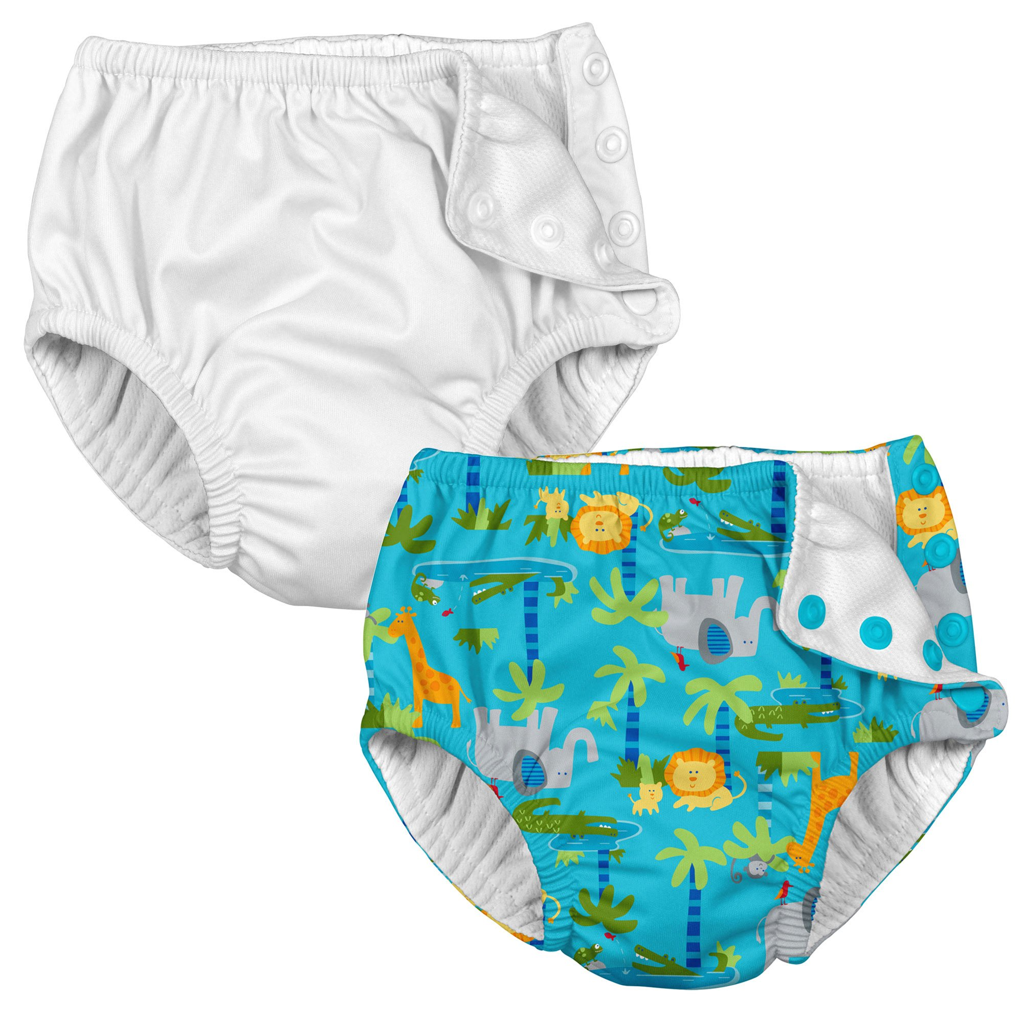 i play. 2PK Absorbent Girl Reusable Toddler Swim